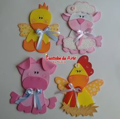 Adornos para la nevera Foam Crafts, Diy And Crafts, Crafts For Kids, Arts And Crafts, Quiet Book Templates, Sheep Crafts, Felt Finger Puppets, Country Paintings, Felt Flowers