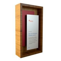 shadow box plaque - modern design in bamboo