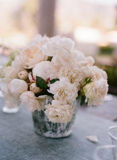Classic | romantic | elegant | candle | wedding inspiration | ceremony | centerpiece | orchids | garden roses | hydrangea | peonies | bouquet | bridal | roses | cream | blush | green | foliage | napa style | rustic | glamour | vintage | Mercury glass