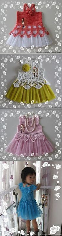 """My Own Universe: Crochet Baby Dresses - Patterns and Tutorial [   """"Just inspiration, crochet over tuille skirts."""",   """"Fabulous dress for the little princess."""",   """"Openwork jacket with short sleeves."""",   """"I will do one for my daughter soon."""" ] #<br/> # #Crochet #Toddler #Dress,<br/> # #Crochet #Baby #Dress #Pattern,<br/> # #Crochet #Baby #Dresses,<br/> # #Baby #Dress #Patterns,<br/> # #Fabulous #Dresses,<br/> # #Dress #Ideas,<br/> # #Daughters,<br/> # #My #Daughter,<br/> # #English<br/>"""
