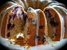 Huckleberry Butter Cake with Lemon Glaze! ~ from Wildflour's Cottage Kitchen Bunt Cakes, Cupcake Cakes, Cupcakes, Buckwheat Cake, Savoury Cake, Homemade Cakes, Let Them Eat Cake, Sweet Treats, Yummy Treats
