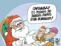 Charge de Natal brasileira