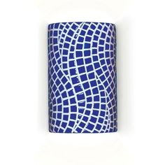 A-19 Channels Wall Sconce Cobalt Blue