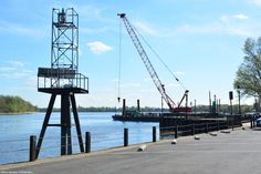 Bristol Waterfront, looking at Burlington, NJ, in the background. Burlington Island is on the left.