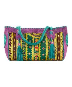 Loving this Purple & Green Abstract Tote on #zulily! #zulilyfinds