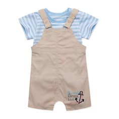 Baby Boy's Atlantic Journey Tank Top & Overall Set, 33% discount @ PatPat Mom Baby Shopping App