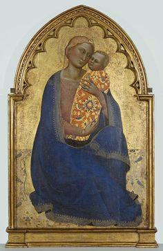 Jacopo di Cione. Madonna dell'Umiltà, 1365-1370 - Dipinto su tavola cm 105x66.5  Galleria dell'Accademia, Firenze