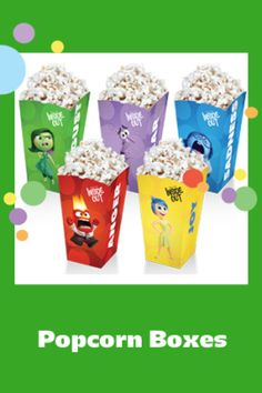 Popcorn Boxes - Free Inside Out Free Printables and Crafts   SKGaleana