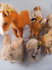 Konvolut: 9x Steiff Tiere Pony Fuchs Hase Cosy Foxy Känguruh Linda