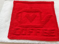 This dishcloth is an English version of a pattern that I published earlier … Kaffeekanne, which is coffee pot in German.