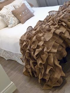 Do this but with a different fabric. Maybe organza?