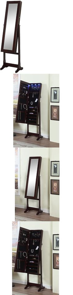 Multi-Purpose 168165: Artiva Usa - Espresso Wood Finish - Free Standing Cheval Mirror And Jewelry BUY IT NOW ONLY: $191.74