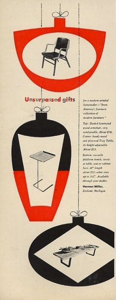 Herman Miller Ad, Designed by Irving Harper, 1951