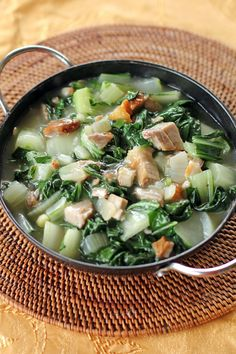 Guisadong Pechay is one of those dishes we always pair with anything fried (fish, pork or chicken), a very flavourful vegetable side dish that complements any fried mains that you may have, similar to bok choy in oyster sauce, but the flavours are a bit distinct as it comes from shrimp paste.