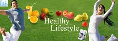 Healthy Lifestyle with fruits, vegetables, juices and Anderson's CMD