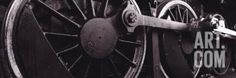 Steam Locomotive Wheels Photographic Print by Panoramic Images at Art.com