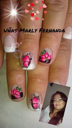 Nail Polish Designs, Nail Art Designs, Pedicure Designs, Finger, Nails, Beauty, Nail Art, Polish Nails, French People