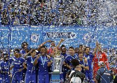 Chelsea Sunderland: Remy scores double as champions celebrate Chelsea Team, Chelsea Soccer, Chelsea Players, Sunderland, David Luiz Chelsea, Chelsea Wallpapers, Premier League Champions, Soccer News, Soccer Stars