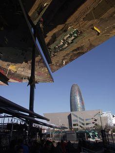 Torre Agbar - Mercat dels Encants flea market- Barcelona