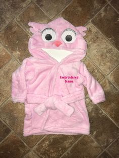 ... to my  etsy shop  Personalized Owl Baby Bathrobe-Plush Hooded Infant  Robe-Name Embroidered Baby Bath Robe-Baby Shower Gift-Birth Present- Monogrammed 9fd693633
