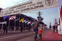 USS Carl Vinson (CVN 70) was commissioned on March 13, 1982 at Newport News Shipbuilding.