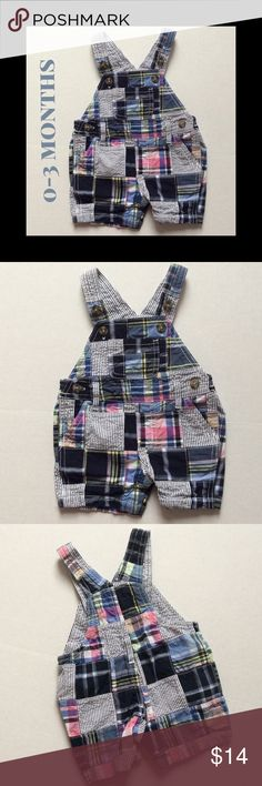 Overall's never go out of style! Adorable madras overalls for you cuties first Spring!  Worn once! Gymboree Bottoms