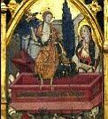 Retablo de la Virgen del Comendador. Barcelona, Museo Nacional de Arte de Cataluña.