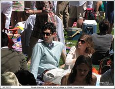 People watching at the St. John's College vs the US Naval Academy annual croquet match in Annapolis Maryland. Photograph published on April 18th 2015. To see a full size version of this photograph and the Annapolis Experience Blog article click on the Visit Site button. Image and article Copyright © 2015 G J Gibson Photography LLC. Button Image, St Johns College, Annapolis Maryland, Naval Academy, Blog Pictures, The St, St John's, Crowd, 18th