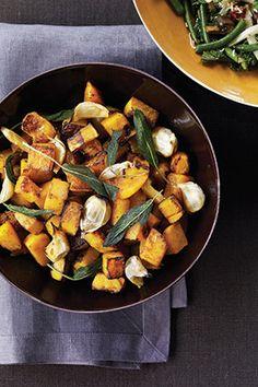 Fall Recipes - Maple-Roasted Butternut Squash #butternutsquash #squash #fall #recipe #harvest