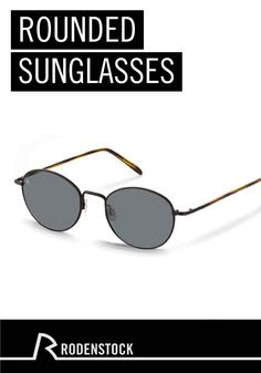 The rounded shape of these unisex Rodenstock sunglasses makes them a classic addition to minimalist and chic outfits. While looking great, they also keep your eyes protected in the sun.