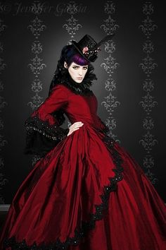 Gothic Silk Marie Antoinette Gown.