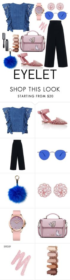 """""""Let My Eye Be"""" by tatianabilly ❤ liked on Polyvore featuring Sea, New York, Aquazzura, STELLA McCARTNEY, Surell, Emilio!, Juicy Couture, WithChic, Urban Decay and Bobbi Brown Cosmetics"""