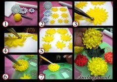 Chrysanthemums Tutorial by Anita Jamal, via Flickr