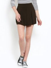 f438d3e572 Nun Women Brown Solid Velvet Slim Fit Divided Mini Skirt Designer Kurtis  Online, Jodhpur,