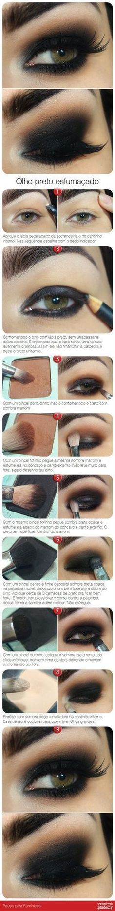 Dark Smokey Eye Makeup Tutorial Pictures, Photos, and Images for Facebook, Tumblr, Pinterest, and Twitter
