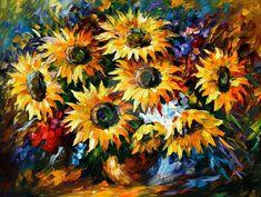 Sunflowers by Leonid Afremov by https://www.deviantart.com/leonidafremov on @DeviantArt