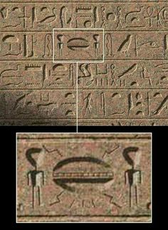 Ancient hyroglyphics show 2 aliens with a UFO Ancient Aliens, Aliens And Ufos, Ancient Art, Ancient Egypt, Ancient History, European History, Ancient Greece, American History, Out Of Place Artifacts