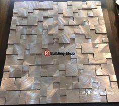Brushed Silver Metal Mosaic Kitchen Wall Tile Backsplash SMMT114 Aluminum Stainless Steel Metallic Tiles 3D Mosaic Pattern silver aluminum metal mosaic tile backsplash [SMMT114] - $20.49 : MyBuildingShop.com