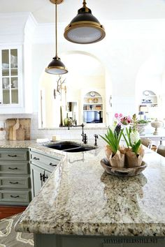 Savvy Southern Style: The Kitchen Reveal.Take Two French Country Style, French Country Decorating, Cheap Patio Furniture, Furniture Ideas, Home Design Diy, Design Ideas, Country Kitchen Designs, Savvy Southern Style, Country Interior
