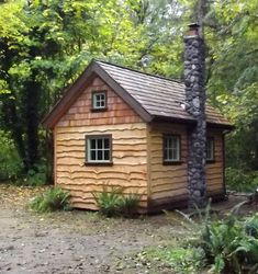 This is the first of three small cabins I am building.  This one is Owl cabin.