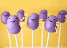 great idea to encourage organ donation! Kidney cake pops! kathrenelaine