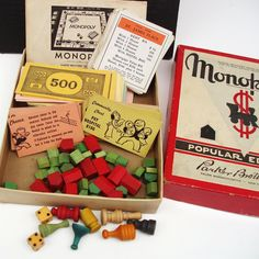 This was our monopoly game ~ wish I still had it for the sake of old times.