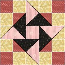 Block of Day for February 16, 2017 - Midnight Pinwheel-strip piecing-The pattern may be downloaded until: Tuesday, February 28, 2017.