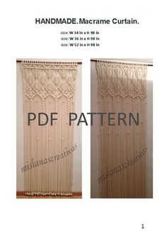 (4) Name: 'Crocheting : PDF Instructions Macrame Curtain.