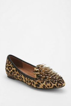 Jeffrey Campbell Clawed Spike Fur Loafer #urbanoutfitters