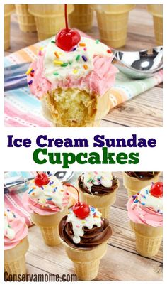 These deliciousIce Cream Sundae Cupcakeswill be the hit at any gathering. So easy to make and even tastier to eat. There's nothing more delicious and refreshing than an ice cream sundae. However, when it comes to birthday parties or events they may not