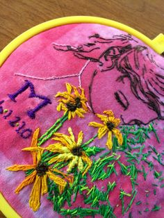 Project ART-A-DAY stitching and printmaking in one. Art project
