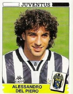Football ©: Alessandro del Piero (Juventus and Italy). Football Icon, Retro Football, World Football, School Football, Vintage Football, Football Soccer, Football Trading Cards, Football Cards, Stars
