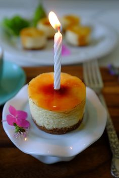 CAKE ON THE BRAIN: Upon Her Turning 12: Mini Crême Brûlée Birthday Cheesecakes (gluten free)