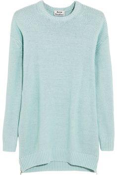 Acne|Sade oversized chunky-knit cotton sweater|NET-A-PORTER.COM